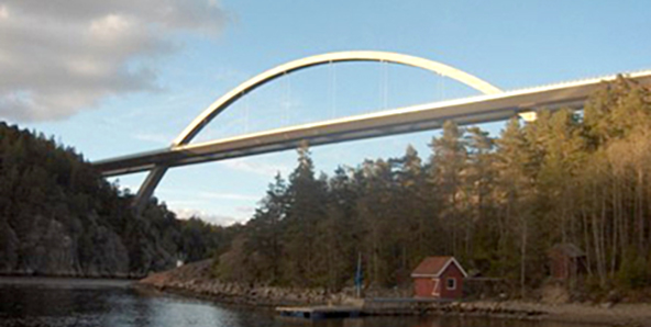 The new Svinesund bridge.