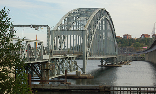 The old Lidingö Bridge in Stockholm.